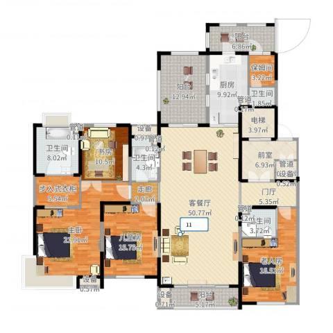 中海・紫御江城3室2厅4卫1厨249.00㎡户型图