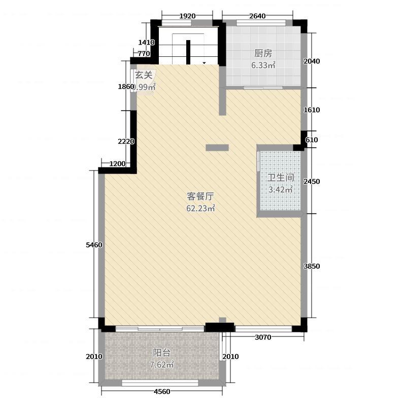 建邦原香溪谷185.00㎡首层户型3室3厅2卫1厨