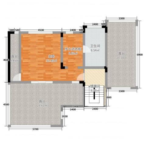 华侨花园1室0厅1卫0厨313.00㎡户型图
