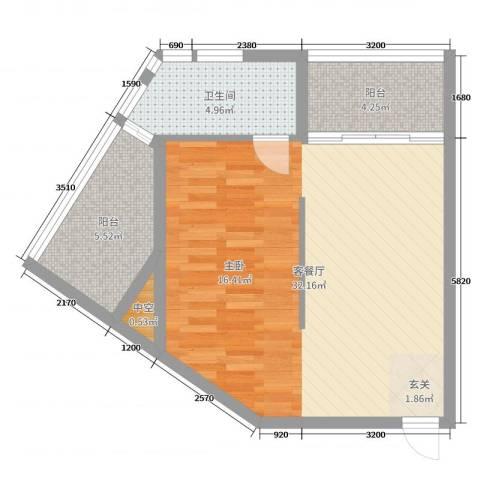 绿洲・凯德堡2厅1卫0厨66.00㎡户型图
