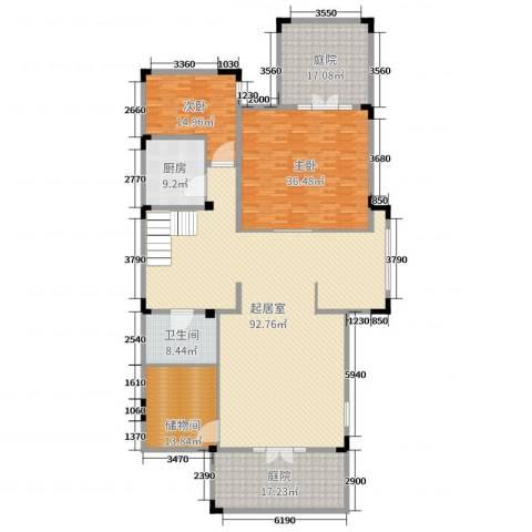 山语墅2室0厅1卫1厨261.00㎡户型图