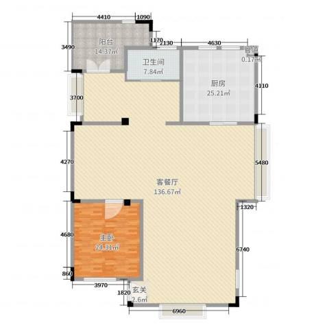 山语墅1室2厅1卫1厨261.00㎡户型图