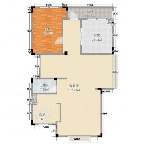 山语墅1室2厅1卫1厨264.00㎡户型图