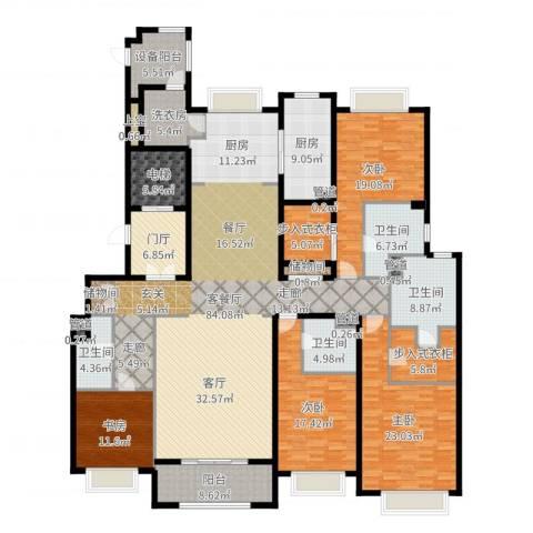 绿洲雅宾利花园三期4室2厅4卫1厨295.00㎡户型图