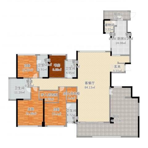 绿岛湖壹号4室2厅4卫1厨318.00㎡户型图