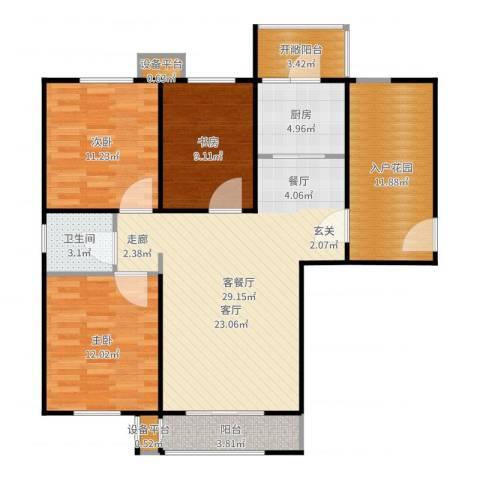 世纪学庭3室2厅1卫1厨112.00㎡户型图