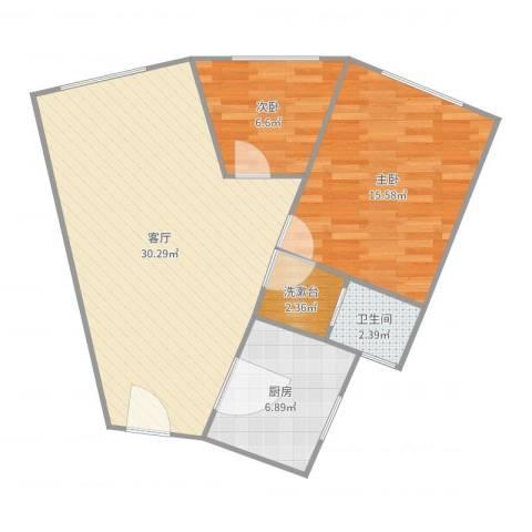 共和大厦商住楼2室1厅1卫1厨64.10㎡户型图