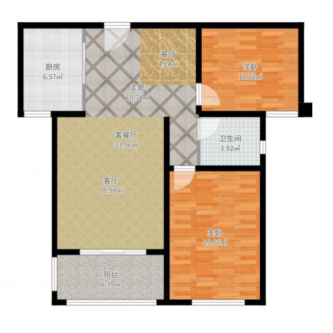 同科・汇丰国际2室2厅1卫1厨97.00㎡户型图