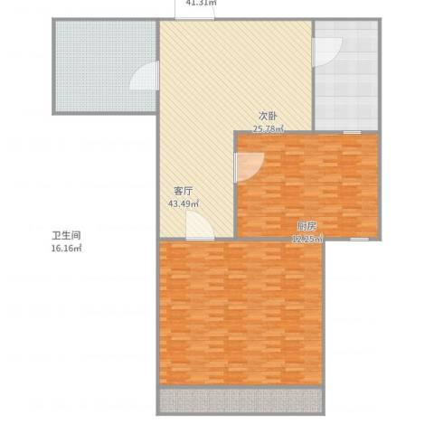 德裕家园2室1厅1卫1厨182.00㎡户型图