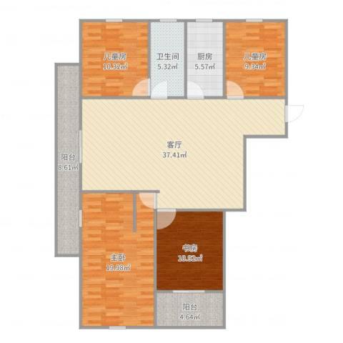 宝带小区4室1厅1卫1厨140.00㎡户型图