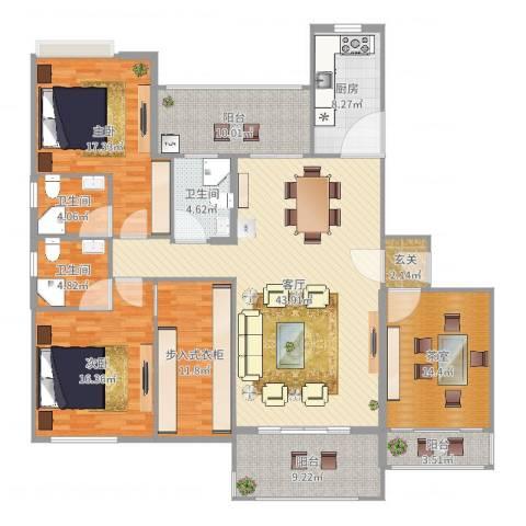 星星华园国际别墅2室1厅3卫1厨188.00㎡户型图