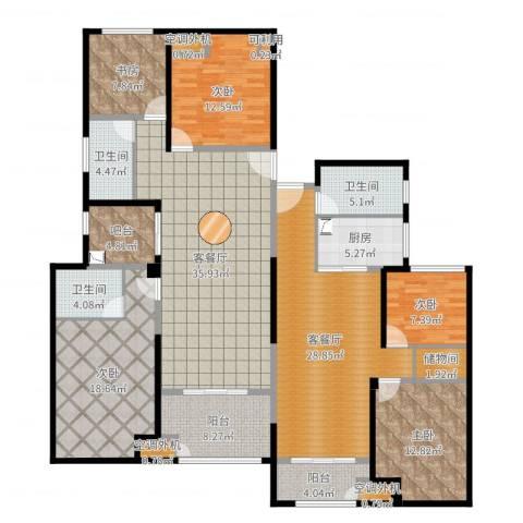百大康桥5室4厅3卫1厨206.00㎡户型图