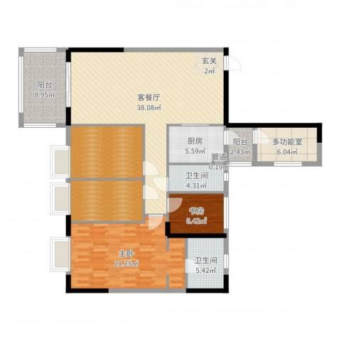 长堤1号2室2厅2卫1厨148.00㎡户型图