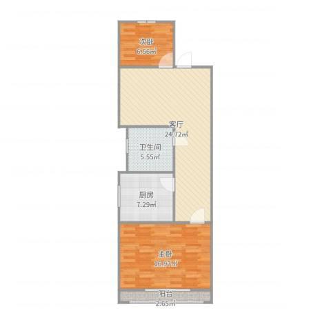 黄寺大街24号院3-5-6022室1厅1卫1厨80.00㎡户型图