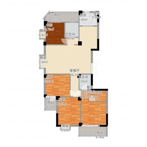 一品江南4室2厅2卫1厨154.00㎡户型图