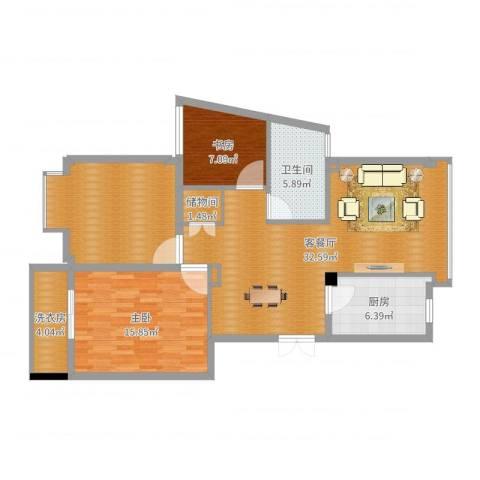 雅戈尔西湖花园2室2厅1卫1厨109.00㎡户型图