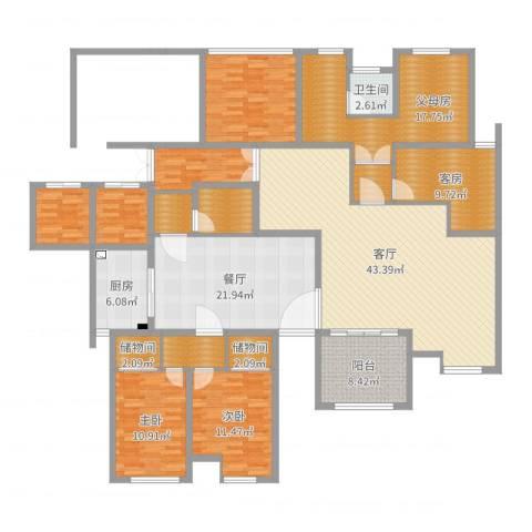 丹凤小区2室2厅1卫1厨216.00㎡户型图