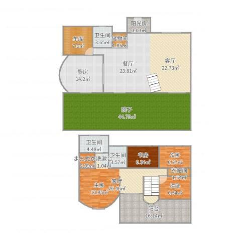 449396美之国花园别墅3室1厅3卫1厨244.00㎡户型图