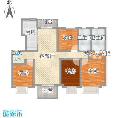 海亮・院里132.00㎡一期2#、3#楼洋房标准层07户型4室4厅2卫1厨