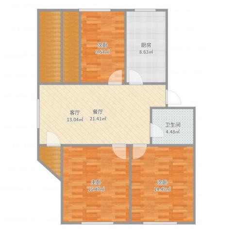 桃林一小区40号4023室1厅1卫1厨105.00㎡户型图