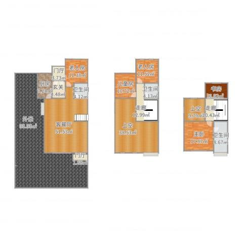 中信公园城5室2厅3卫1厨411.00㎡户型图