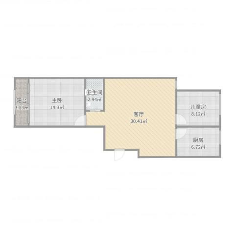 银枫家园2室1厅1卫1厨82.00㎡户型图