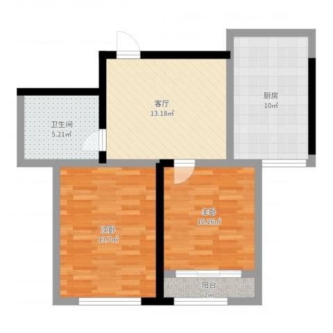 信泰龙跃国际2室1厅1卫1厨79.00㎡户型图