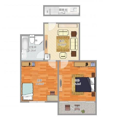 解放新村22室1厅1卫1厨66.00㎡户型图