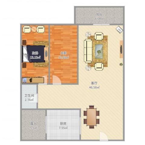 威斯广场峰景4座25032室1厅1卫1厨92.84㎡户型图