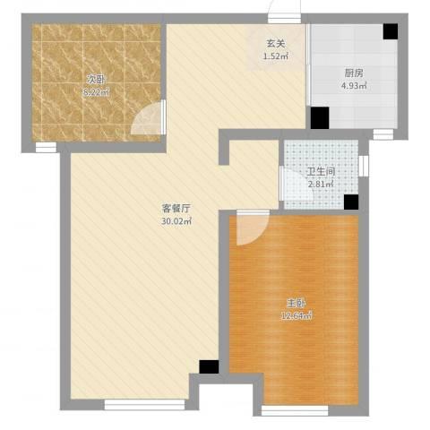 证大.大拇指广场2室2厅1卫1厨73.00㎡户型图