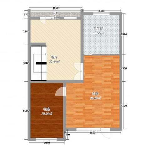 美地庄园2室1厅1卫0厨260.00㎡户型图