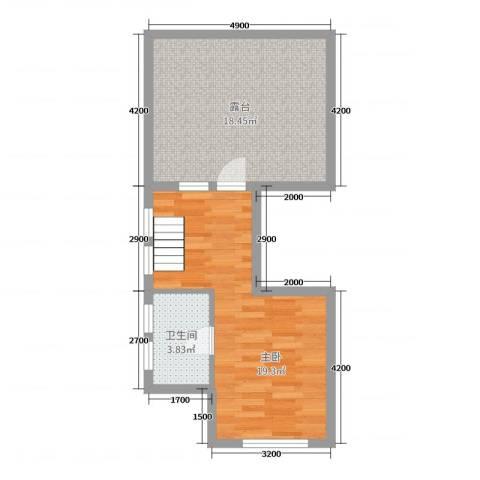 中铁国际旅游度假区1室0厅1卫0厨41.58㎡户型图
