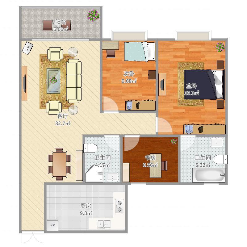 三室二厅二卫27