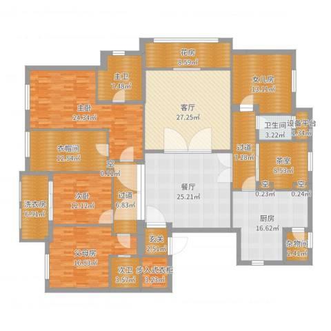 奉化中央花园2室2厅1卫1厨263.00㎡户型图