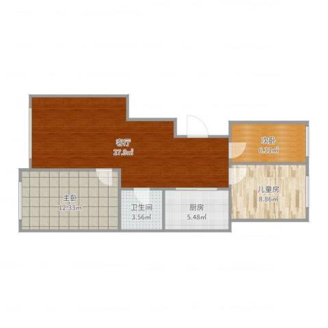 永清万和世家8-3-6023室1厅1卫1厨81.00㎡户型图