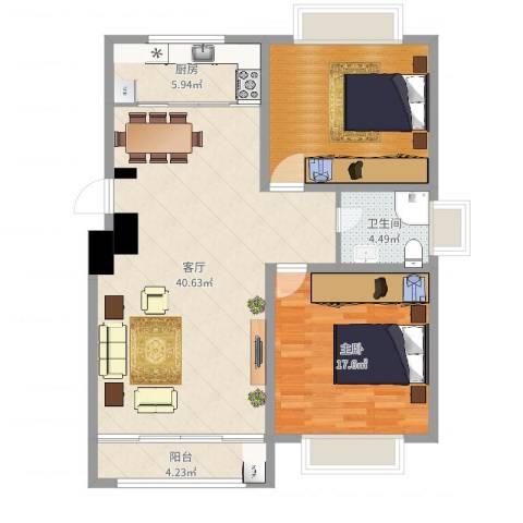 御水天成1室1厅1卫1厨111.00㎡户型图