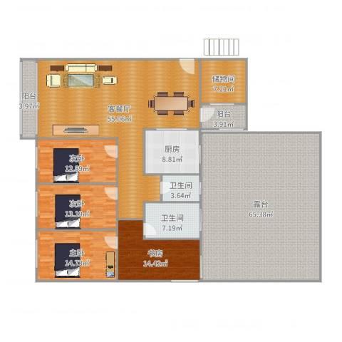 上林国际4室2厅2卫1厨210.39㎡户型图