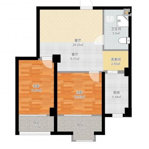 四季康城2室1厅1卫1厨83.00㎡户型图