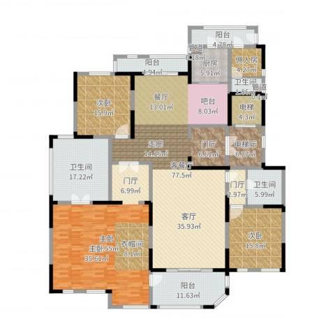 海珀兰轩3室2厅3卫1厨288.00㎡户型图