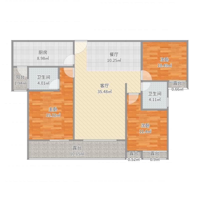 政府路还建房F型(5#楼)F-2(5)-134.44-100.99