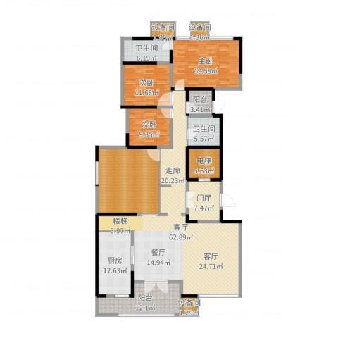 万科公园5号3室1厅2卫1厨231.00㎡户型图