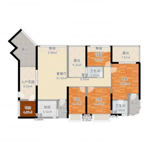 龙园8号5室2厅2卫1厨177.00㎡户型图