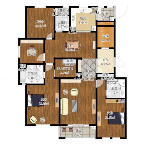 姑苏金茂府4室1厅3卫1厨211.00㎡户型图