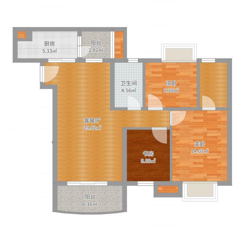 碧桂园·芙蓉湾9街5座02户型现代简约风格