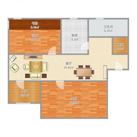 兰花教师公寓2662室1厅1卫1厨114.00㎡户型图