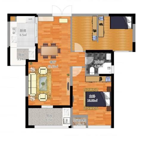 天安曼哈顿1室1厅1卫1厨90.07㎡户型图