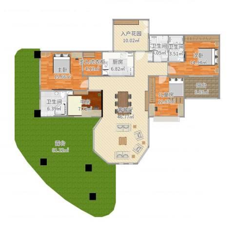 世纪城天鹅湖4室2厅3卫1厨175.00㎡户型图