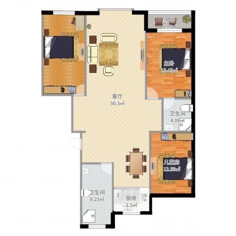 绿墅蓝湾1室1厅2卫1厨136.00㎡户型图