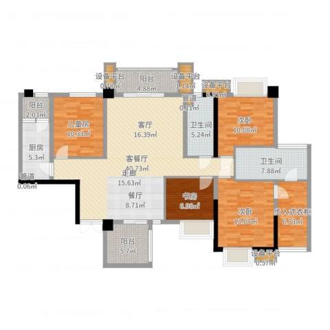 泰然环球时代中心4室2厅2卫1厨153.00㎡户型图