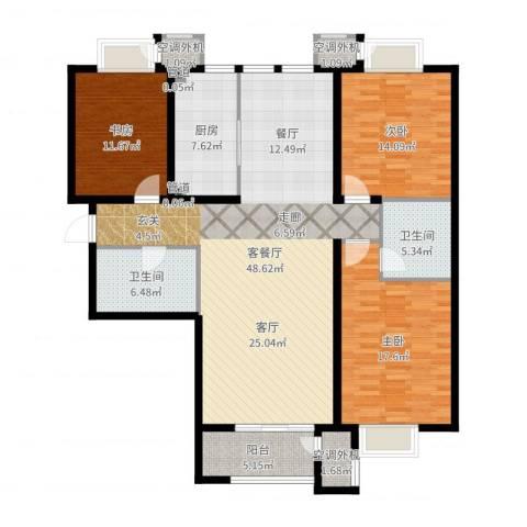 新松・茂樾山3室2厅2卫1厨151.00㎡户型图